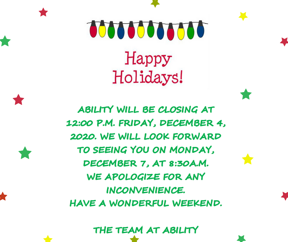 Office Closing Early Friday 12/4