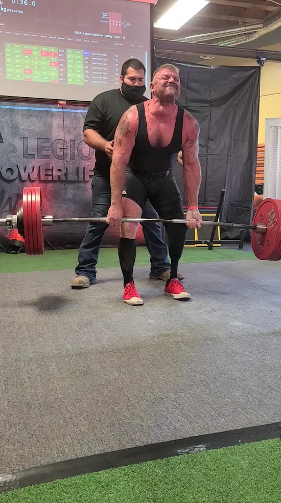 Dead lifting 545 lbs! Wow!