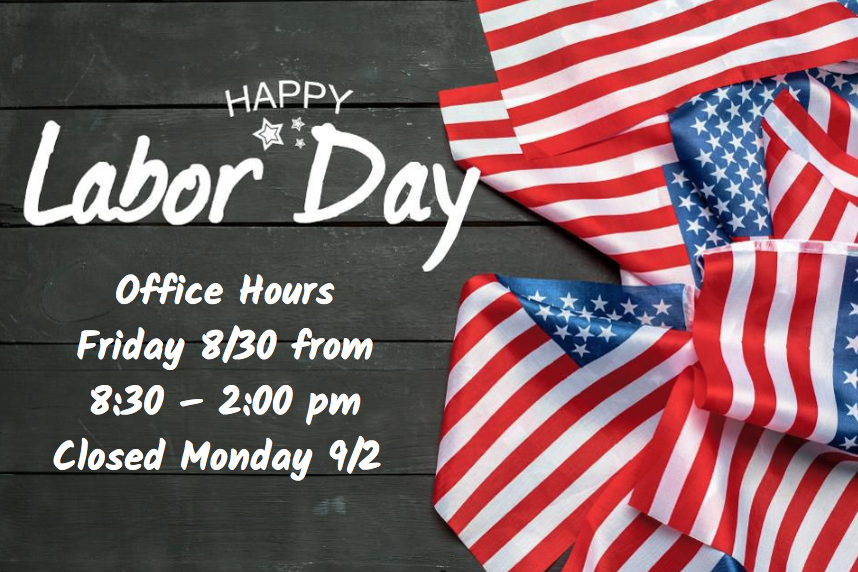 Labor Day Office Hours