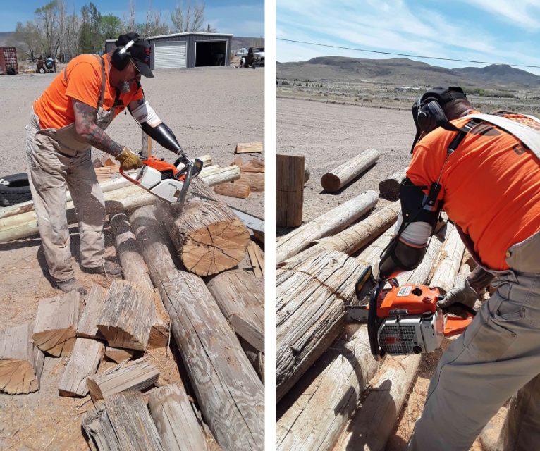 Shout out to our patient, Chip, for sharing these photos!  He makes using a chainsaw look easy!
